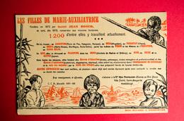 Buvard LES FILLES De MARIE-AUXILIATRICE, Missions, Oeuvres - Buvards, Protège-cahiers Illustrés