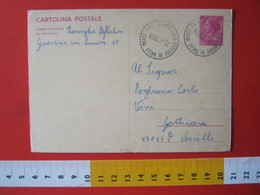 PC.4 ITALIA CARTOLINA POSTALE 1967 SIRACUSANA £ 40 DA CAMPORE DI VALLE MOSSO BIELLA VERCELLI 1970 - 6. 1946-.. Repubblica