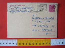 PC.4 ITALIA CARTOLINA POSTALE 1967 SIRACUSANA £ 40 DA BORGOSESIA VERCELLI Targhetta RISPARMIO POSTALE BOTTE VINO WINE - 6. 1946-.. Repubblica
