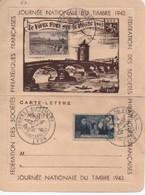 JOURNEE DU  TIMBRE 1943 SJUR  LTTRE FEDERATION  N°  YVT ET TELLIER  480 ET 583 - Postmark Collection (Covers)