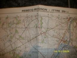 Carte Topographique De Rebecq - Rognon - Ittre (Dworp - Tubize - Braine-le-Château - Wauthier) - Cartes Topographiques