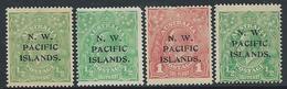 Timbre-Poste AUSTRALIE (NW PACIFIC ISLANDS) Lot Têtes Georges V* - 1913-36 George V : Têtes