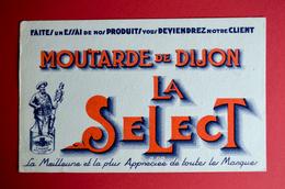 Buvard Moutarde De Dijon LA SELECT - Moutardes