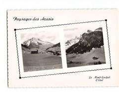 74 Paysage Paysages Des Aravis Le Mont Lachat L' Etal Carte 2 Vues CPSM GF - Chamonix-Mont-Blanc