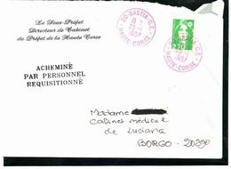 """Grèves Corses De 1997. Griffe """" Acheminé Par Personnel Eéquisitionné """" - Grève"""