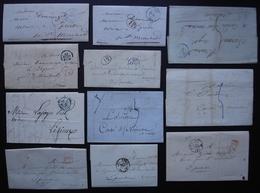 Paris, Lot De 11 Lettres Précurseur, Cachets Bleu, Port Payé, Voir Photos ! - 1801-1848: Précurseurs XIX