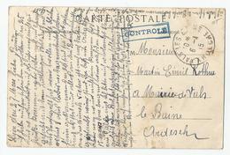 Marcophilie Cachet Controlé 1915 Vals Les Bains 07 Ardèche De Lyon - Poststempel (Briefe)