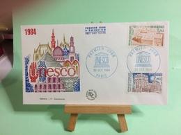 UNESCO  1984 - Paris - 20.10.1984 - FDC 1er Jour Coté ..€ - FDC