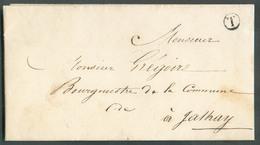 LAC De VERVIERS (sans Cachet-à-date (RR) Du 2 Mars 1846 + Boîte T En Franchise Vers JALHAY (lettre Déposée Dans Une Boît - 1830-1849 (Belgique Indépendante)