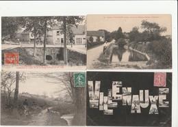 4 CPA:VILLENAUXE (10) LES TROIS GOULOTS,PONT DU CIMETIÈRE,GUÉ AUX VIGNEAUX HAMEAU DE BARBUISE,VUES DANS LES LETTRES - France