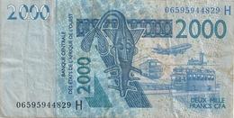 Banque Centrale De L'Afrique De L'Ouest 2000 Francs 2003  B C E A O   Lettre H - Autres - Afrique