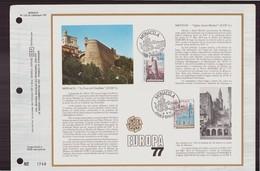 """Monaco Jour D'émission Du 3 Mai 1977 """" Europa 77 """" - Monaco"""