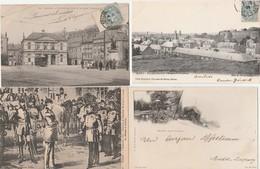 4 CPA:SEDAN (08) ENTREVUE DE NAPOLÉON III ET GUILLAUME,PLACE DE TURENNE,JARDIN BOTANIQUE,VUE VILLE PRISE DU PALITINAT - Sedan