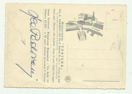 AUTOGRAFO LEA PADOVANI ATTRICE  SU CARTOLINA RISTOORANTE FORTUNA GENOVA - NV FG - Autogramme & Autographen