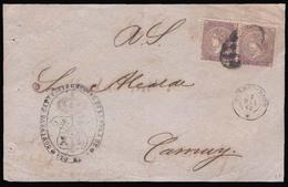 PUERTO RICO. 1868. Pto. Rico / Camuy. R. Servicio. Franqueada Con 5cts Violet 1868. Gran Rareza. - Puerto Rico