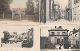 4 CPA:NOGENT SUR SEINE (10) MARCHÉ RUE SAINT LAURENT,CHALET DE M.COMMANDANT LECOMTE,VIEUX NOGENT RUE DE LA HALLE - Nogent-sur-Seine