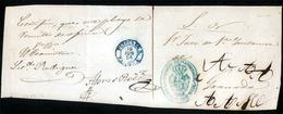 E-PROVINCIAS. 1856 (16 Junio). ZAMORA. Puebla De S(anbria) A Granada. Frente De SN Con Marca De Juzgado En Azul (xx) Y F - Zonder Classificatie
