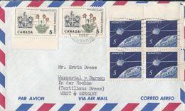 84403- PITCHER PLANT, ALOUETTE II SATELLITE, STAMPS ON COVER, 1966, CANADA - 1952-.... Regno Di Elizabeth II