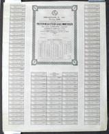 Prestito Città Casale - Obbligazione L. 500 - 1872 - Completo Di Cedole - RARO - Shareholdings