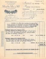ALGERIE CLOS FARANAH PARADIS Père Et Fils Mascara  Vieux Vins De Mascara  Facture De 1940 à Llaurens Sète *PRIX FIXE - Other