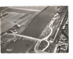 51 Port A Binson Vue Aerienne Le Pont La Marne La Voie Ferrée Gare CPSM GF Cachet 1956 - Francia