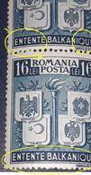 Errors Romania 1940, Mi615-616, Emblemes,coat Of Arms, Wappen Rumanien,Grece, Iugoslavia,Turkey, Bfx4 - Variedades Y Curiosidades