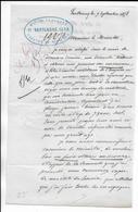 1858 - LETTRE DEMANDE SECOURS D'un ANCIEN SOLDAT D'EMPIRE (CAMPAGNES 1806 à 1814) à PARTHENAY => MINISTRE DE LA GUERRE - 1849-1876: Klassieke Periode