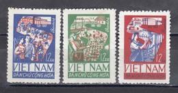 Vietnam Nord 1965 - 1st Five-year Plan, Mi-Nr. 420/22, MNH** - Vietnam