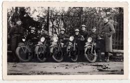 Photo Originale Militaria Militaires Soldats Armée Guerre 1914-1918 ? Motards Moto à Identifier Motocyclette Motorbike - Guerra, Militares