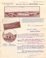 ALGERIE Honoré NAVARRE Oran Vins Huiles  Lettre De 1912 à Vuilley Colombier Chateleot   (vignes Vin) - Other