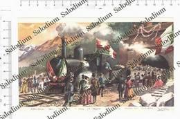 GALLERIA DEL SEMPIONE - PRIMO TERNO ARRIVA IN SVIZZERA - Immagine Ritagliata Da Pubblicazione Originale D'epoca - Victorian Die-cuts