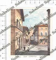 BORGO SAN LORENZO - Immagine Ritagliata Da Pubblicazione Originale D'epoca - Victorian Die-cuts