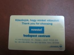 Novotel Budapest Centrum - Cartes D'hotel