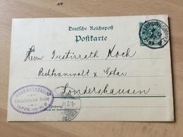 K8 Deutsches Reich Ganzsache Stationery Entier Postal P 36I Von Leipzig Nach Sondershausen - Stamped Stationery