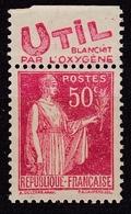 Type Paix 50 C. Rouge Avec Bandelette Publicitaire Util Type IV N* - Publicités