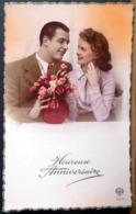 3015 HEUREUX ANNIVERSAIRE COUPLE EN ROSE - Anniversaire