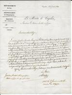 1843 - VAR - LETTRE IMPRIMEE De La MAIRIE De COGOLIN Avec CURSIVE (IND 10) => FREJUS - Postmark Collection (Covers)
