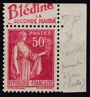 Type Paix 50 C. Rouge Avec Bandelette Publicitaire Blédine Type IV N* - Publicités