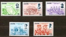 Zaire 1980 OBCn° 1066-1070 *** MNH  Cote 11,00 Euro - 1980-89: Nuevos