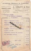 78 VERSAILLES SEINE - 1940 - ENTREPRISE GLE DE FUMISTERIE FOURNISSEUR DES CHEMINS DE FER DE L'ÉTAT A. CÉRUTTI & FILS - 1900 – 1949