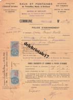 78 VERSAILLES SEINE - 1949 - POLICE ABONNEMENT EAUX & FONTAINES VERSAILLES MARLY & ST CLOUD À M. FOUQUAT THÉOPHILE - 1900 – 1949