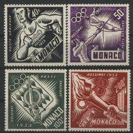 MONACO POSTE AERIENNE N° 51 à 54 Cote 92 € Neufs ** (MNH). Série Des JO D'Helsinki En 1953. TB - Luftfahrt