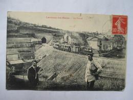 LACAUNE-LES-BAINS     -   TRAIN          COIN BAS D.  USE - Francia