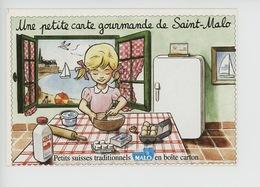 Malo : Une Petite Carte Gourmande De Saint Malo : Claire Fait La Cuisine (laiterie) Cp Vierge - Saint Malo