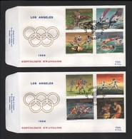 BUZIN / 2 FDC's DU RWANDA DE 1984 / COB 1210/1217 / JEUX OLYMPIQUES DE LOS ANGELES / PEU COURANT - 1985-.. Vogels (Buzin)