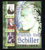 Palau Writers Schiller MNH -(V-21) - Escritores