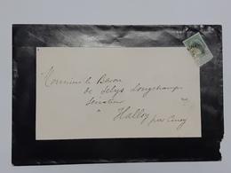 Enveloppe Décès Envoyée Au Sénateur - Baron De Selys Longchamps à Halloy Par Ciney - C. R.Chancellerie ... Lot 1273A - Alte Papiere