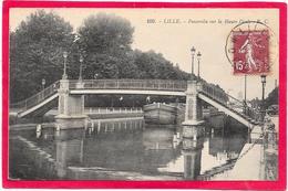 59 LILLE - Péniche - Passerelle Sur La Haute Deule - Lille
