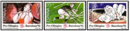 BARCELONA 92 - AÑO 1990 - Nº EDIFIL 3054-56 - 1931-Hoy: 2ª República - ... Juan Carlos I