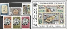 Cyprus  1974    Sc#416-8  Europa Set MH  & 419-22 Studies Set MLH  2016 Scott Value $6.75 - Cyprus (Republic)